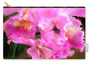 Pretty In Pink Cattleya Orchids Carry-all Pouch
