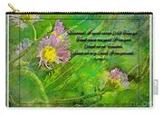 Pretty Little Weeds With Photoart And Verse Carry-all Pouch