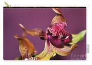 Pretty Orchid On Pink Carry-all Pouch by Kaye Menner