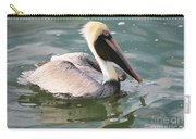 Pretty Pelican In Pond Carry-all Pouch by Carol Groenen