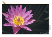 Pretty Pink And Yellow Water Lily Carry-all Pouch