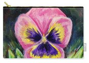 Pretty Pink Pansy Person Carry-all Pouch