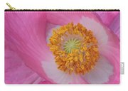 Pretty Pink Poppy Macro Square Carry-all Pouch