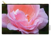 Pretty Pink Rose Carry-all Pouch
