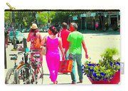 Pretty Pink Summer Dress Sunny Stroll Licari St Denis Scene Montreal Bike Racks And Flowers Cspandau Carry-all Pouch