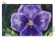Pretty Purple Pansy Person Carry-all Pouch