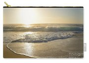Pretty Waves At Glowing Sunrise By Kaye Menner Carry-all Pouch