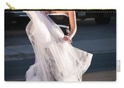 Pretty Woman With Gun Behind The Veil Carry-all Pouch