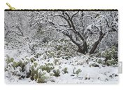 Prickly Pear Cactus And Mesquite Tree Carry-all Pouch