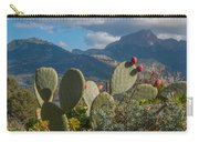 Prickly Pear Cactus And Mountains Carry-all Pouch