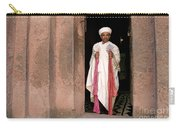 Priest At Ancient Rock Hewn Churches Of Lalibela Ethiopia Carry-all Pouch