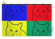 Primary And Green Cats Carry-all Pouch