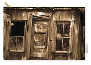 Primative Post Office Cabin In Sepia Carry-all Pouch