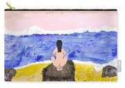 Primitive Woman Crouching Carry-all Pouch