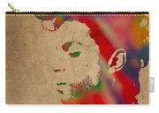 Prince Watercolor Portrait On Worn Distressed Canvas Carry-all Pouch