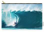 Pro Surfer Kelly Slater Surfing In The Pipeline Masters Contest Carry-all Pouch
