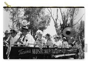 Pro-viet Nam War March Beaver's Band Box Musicians Tucson Arizona 1970 Black And White Carry-all Pouch