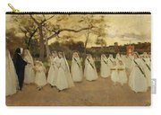 Procession Of Schoolgirls Carry-all Pouch