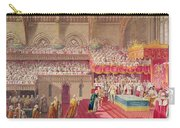 Procession Of The Dean And Prebendaries Of Westminster Bearing The Regalia, From An Album Carry-all Pouch