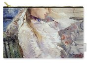 Profile Of A Seated Young Woman Carry-all Pouch by Berthe Morisot