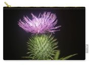 Profile Of Pruple Thistle Carry-all Pouch