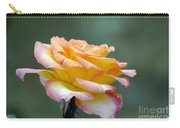 Profile View Yellow And Pink Rose Carry-all Pouch