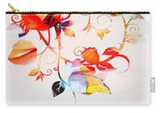 Profound Thought Rose Vine Carry-all Pouch