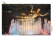 Prometheus Greek Statue In Rockefeller Ice Rink Carry-all Pouch
