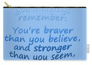 Promise Me - Winnie The Pooh - Blue Carry-all Pouch