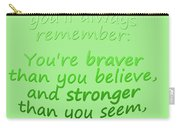 Promise Me - Winnie The Pooh - Green Carry-all Pouch