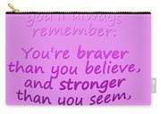 Promise Me - Winnie The Pooh - Pink Carry-all Pouch