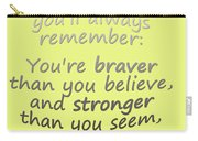 Promise Me - Winnie The Pooh - Yellow Carry-all Pouch