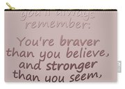 Promise Me - Winnie The Pooh  Carry-all Pouch