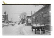 Prosser Winter Train Station  Carry-all Pouch by Carol Groenen