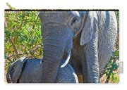 Protective Mother Elephant In Kruger National Park-south Africa Carry-all Pouch