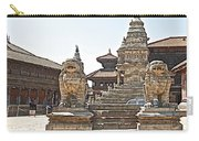 Protector Sculptures Near The Boundary Of Bhaktapur Durbar Square In Bhaktapur-nepal Carry-all Pouch