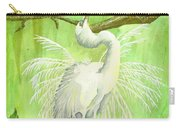 Proud Egret Carry-all Pouch