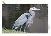 Proud Great Blue Heron Carry-all Pouch