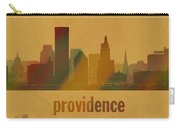 Providence Rhode Island City Skyline Watercolor On Parchment Carry-all Pouch