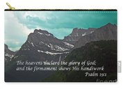 Psalm 19 1 On The Rocky Mountains Carry-all Pouch