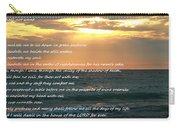 Psalm 23 Beach Sunset Carry-all Pouch