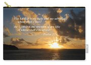 Psalm 27 1 The Lord Is My Light Carry-all Pouch