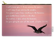 Psalm With Pelican And Pink Sky Carry-all Pouch