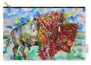 Psychedelic Buffalo Carry-all Pouch