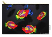 Psychedelic Flying Fish Carry-all Pouch by Kaye Menner