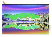 Psychedelic Mirror Lake New Zealand 3 Carry-all Pouch