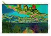 Psychedelic Skyline Over Spokane River #1 Carry-all Pouch