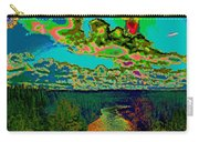 Psychedelic Skyline Over Spokane River #2 Carry-all Pouch