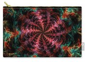 Psychedelic Spiral Vortex Purple Pink And Teal Fractal Flame Carry-all Pouch