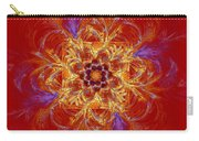 Psychedelic Spiral Vortex Red Orange And Blue Fractal Flame Carry-all Pouch by Keith Webber Jr